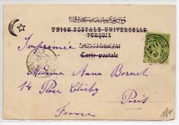 1901 - CP De CONSTANTINOPLE (TURQUIE) Avec SAGE - BUREAU FRANCAIS A L'ETRANGER - Postmark Collection (Covers)