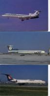 AVIATION(LOT DE 9 CARTES) - 1946-....: Ere Moderne