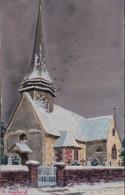 76 - Seine Maritime - Boos - L Eglise Sous La Neige - Fabrication Artisanale ? Voir R/v - Francia