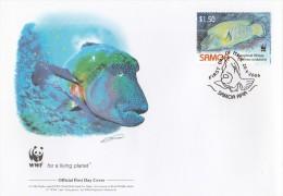 "Samoa 2006 - FDC WWF"" - Timbres Yvert & Tellier N° 1012 à 1015. - Samoa"