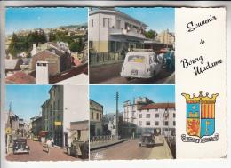 DOUANES FRONTIERE - BOURG MADAME 66 : Douane Rue Commerçante Automobiles ... Jolie CPMS Dentelée Colorisée 1956 - - Customs