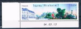 France 2013 - Réf. 4744 - Rixheim (Haut Rhin) - Coin De Feuille Daté 04.03.13 - Neuf** - France