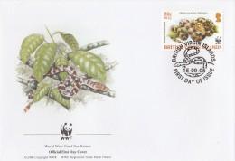 "Iles Vierges Britanniques 2005 - FDC WWF"" - Timbres Yvert & Tellier N° - British Virgin Islands"