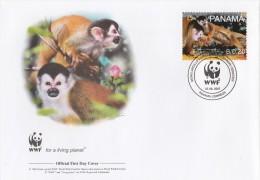 "Panama 2007 - FDC WWF"" - Timbres Yvert & Tellier N° 1249 à 1252. - Panama"