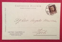 RUSSI 1929 - CARTOLINA PUBBLICITARIA  PIETRO RAMBELLI FORNACI LATERIZI E CALCE - AUTOGRAFA CON FIRMA - Pubblicitari