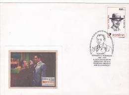 4085A EDWARD G. ROBINSON AMERICAN ACTOR OF ROMANIAN ORIGIN SPECIAL COVER 2002 ROMJANIA - Cinema