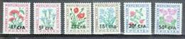 Réunion CFA Timbres Taxe LUXE ** N° 48 à 53 Type Fleurs Des Champs 6 Valeurs - Postage Due
