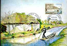 Carte Premier Jour Paysage Vendéen 1965  St Jean De Monts (85) - Philatélie & Monnaies