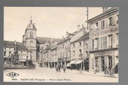 SAINT-DIE - Place Jules-Ferry - Café Stanislas - Café Jules Ferry - Salon De Coiffure - Epicerie - Animé - Saint Die