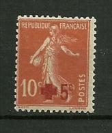 FRANCE 1914    N° 146     Au Profit De La Croix Rouge      Neuf Avec Trace De Charnière - Neufs