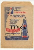 """Pochette Papier  Utilisée Pour La Vente Des C.P.  Avec Pub D Articles De Papeterie """" Colle  Et Papier Cristal """" - Supplies And Equipment"""