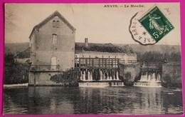 Cpa Anvin Le Moulin Carte Postale 62 Nord Pas De Calais Proche Béthune - France