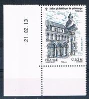 France 2013 - Réf. 4736 - Salon Philatélique De Printemps Mâcon - Coin De Feuille Daté 21.02.13 - Neuf** - France