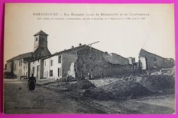 Cpa Haraucourt Rue Hanzelet Route De Réméréville Et De Courbesseaux Carte Postale 54 Lorraine Proche Lunéville - Autres Communes