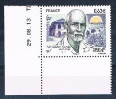 France 2013 - Réf. 4798 - Alexandre Yersin - Vietnam France - Coin De Feuille Daté 29.08.13 - Neuf** - France