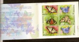 Moldavie Moldova 2003 Yvertn° Carnet C396 *** MNH Cote 30,00 Euro Faune Papillons Vlinders - Moldavie