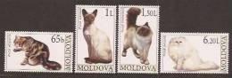 Moldova Moldavie 2007  Yvertn° 510-13 ***  MNH Cote 10,00 Euro Katten Cats Chats - Moldavie