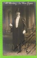 E Martiny Baryton Op�ra Comique, in �La Veuve Joyeuse� Th�atre Royal d�Anvers 1912-1913  Autographe