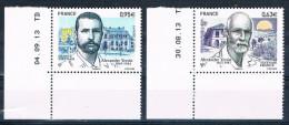 France 2013 - Réf. 4798 - 4799 - Alexandre Yersin - Coins De Feuille Datés 30.08.13 Et 04.09.13 - Neufs** - France