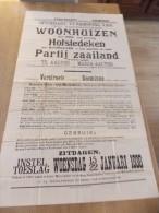 Affiche Openbare Verkoping Woonhuis & Hofstede Ste Maria Aalter - Notaris Verstraete Lotenhulle & Goeminne 1936 - Affiches
