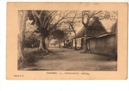 C P A--AFRIQUE  DAHOMEY--PORTO-NOVO--une Rue--voir 2 Scans - Dahomey