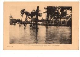 C P A--AFRIQUE  DAHOMEY-inondations Du COTONOU 1925--un Carrefour--voir 2 Scans - Dahomey