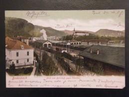 Allemagne  Bodenbach Blick Vom Bahnhofe Gegen Tetschen 1907 - Boehmen Und Maehren