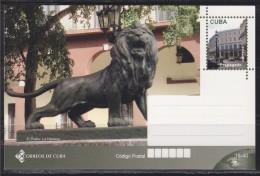 = Carte Entier Postal,  De Cuba El Prado, La Havane, Lion - Cuba