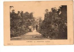 C P A--AFRIQUE  DAHOMEY--BOKOUTOU--la Route --voir 2 Scans - Dahomey