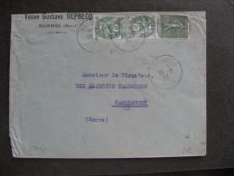 BLM 38 -TB Enveloppe Affranchie Avec N° 111 X 2 Et 130;  De Boran Pour La Belgique ( 23/ 04 / 1905 ) . - Marcophilie (Lettres)