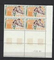 """Wallis Coins Datés Aerien YT 28 """" UNESCO """" 1966 Neuf** - Poste Aérienne"""