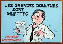 CP - Série Proverbe - Proverbe Contribuable - 874/1 - Les Grandes Douleurs Sont Muettes - Humour