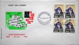 Denmark 1970 Cz. Slania FDC MiNr.497 Reunification /Wiedervereinigung ( Lot 1245) FOGHS COVER - FDC