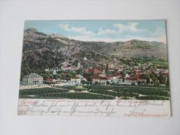 AK 1905 Montenegro. Cetinje. Blick Auf Die Gesamte Stadt. Panorama. Stempel K. Und K. Milit. Post Sarajevo Lager - Montenegro