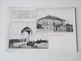 AK 1905 Montenegro. Cetinje. Mehrbildkarte. Ungebraucht. Verlag Erminio Mandel, Cattaro. Tolle Karte - Montenegro
