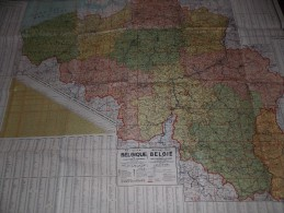 Kaart Belgie - Carte De Belgique - Ed De Rycker Bruxelles 1910 - Geographical Maps