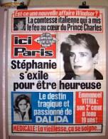PUBLICITE 1987 AFFICHE DE PRESSE HEBDOMADAIRE ICI PARIS 56cmX76cm N°2184 STEPHANIE DALDA EMMANUEL VITRIA WINDSOR PRIN... - Manifesti