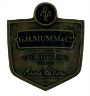 Etiquette Champagne  MUMM  René LALOU    Brut   A  VOIR  !!!!!!! - Advertising
