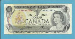 CANADA - 1 DOLLAR - ( 1973 ) - Pick 85c - Sign Crow-Bouey - 2 Scans - Canada