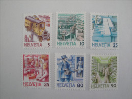 Suisse 1986 Transport Postal - Yvert 1250 / 1255 ** -  Michel 1321 / 1326 ** - Postal Delivery - Suisse