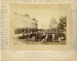 """France, Paris """"Crimes De La Commune"""" - Anciennes (Av. 1900)"""