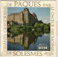 CHEOEUR Des MOINES De SOLESMES : Chants Grégoriens De Pâques (EP) - Religion & Gospel