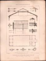 PLAN - PAVILLON MINISTERE Des TRAVAUX PUBLICS,  EXPOSITION UNIVERSELLE 1878 - Architecture