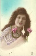 2 - CPA - Portrait D'une Jeune Fille - 1925 - (couleur) - - Women
