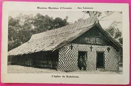 Cpa L' Eglise De Kakabona Iles Salomon Missions Maristes D'Océanie Carte Postale Pacifique - Solomoneilanden