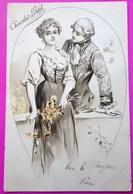 Cpa Publicité Chocolat Louit Carte Postale Art Nouveau 1905 - Pubblicitari