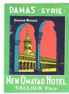 ETIQUETA DE HOTEL  -  DAMAS (SYRIE)  NEW OMAYAD HOTEL - Etiquetas De Hotel