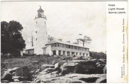 Cape Light House, Sierra Leone Black & White Postcard 1917 - Sierra Leone