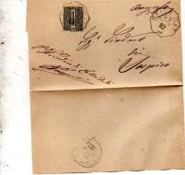 1892  LETTERA CON ANNULLO  OTTAGONALE CELLA DATI CREMONA
