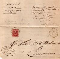1893  LETTERA CON ANNULLO  OTTAGONALE CELLA DATI CREMONA